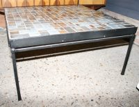 French Mid-Century Mosaic Tile Top Coffee Table | Interior ...