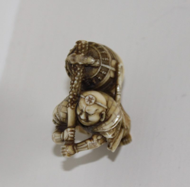 retro metal garden chairs outdoor bar height swivel carved antique ivory netsuke figure of man with temple bell   interior boutiques – antiques for ...