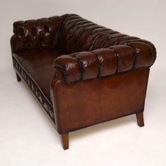 Leather Chesterfield Sofa For Sale Najarian Furniture Park Avenue Antique Swedish Interior