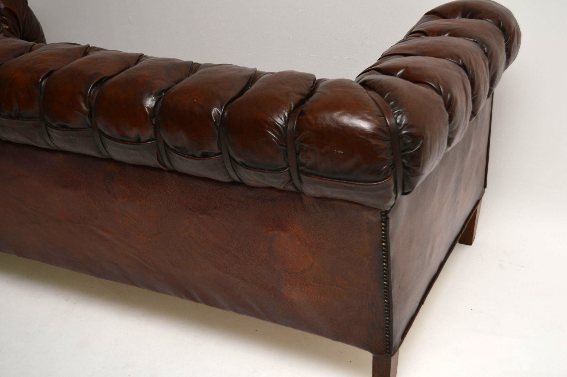 leather chesterfield sofa for sale baby pink cover antique swedish interior