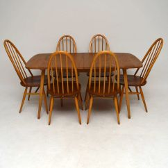 Ercol Windsor Dining Table And Chairs Chair Covers Cork 1960s Grand Six