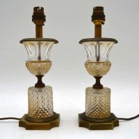 Pair of Antique Crystal Table Lamps | Interior Boutiques ...