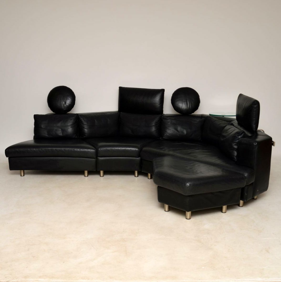 Rolf Benz Modular Sofa 222 1970s Vintage Leather Modular Sofa By Rolf Benz