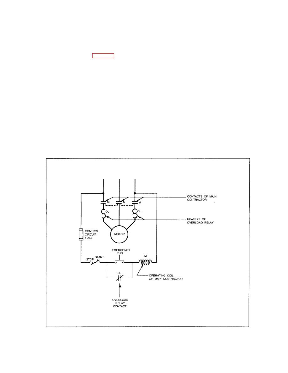 medium resolution of schematic diagram of motor controller with thermal type of overload relay