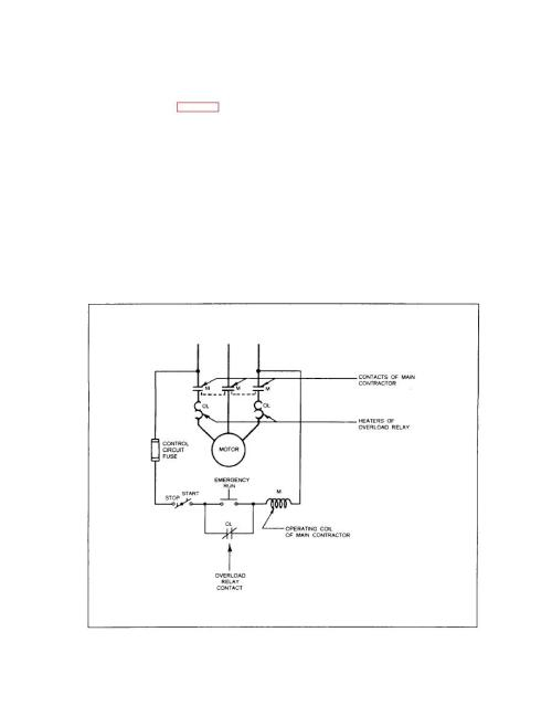 small resolution of schematic diagram of motor controller with thermal type of overload relay