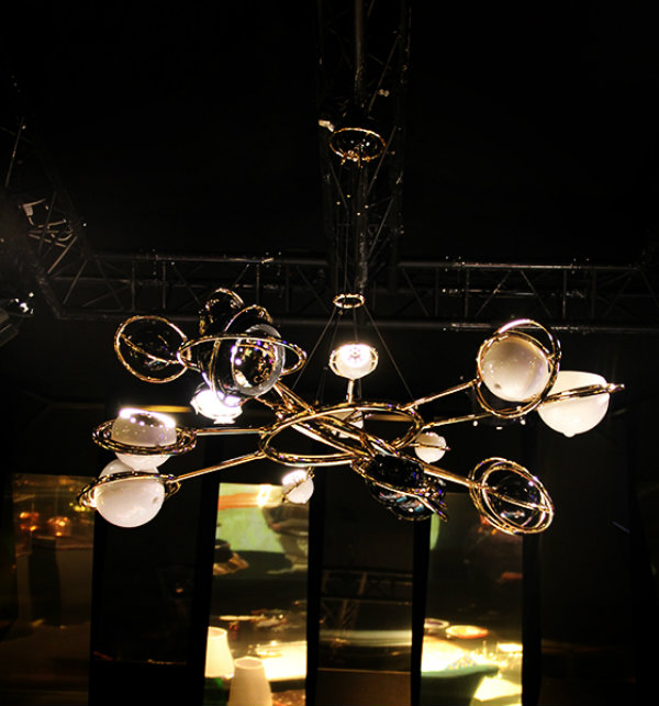 Cosmic Suspension Chandelier Dramatic Delightfull Mid Century Modern