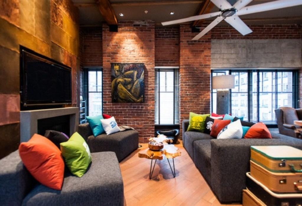 gaya desain interior industrial