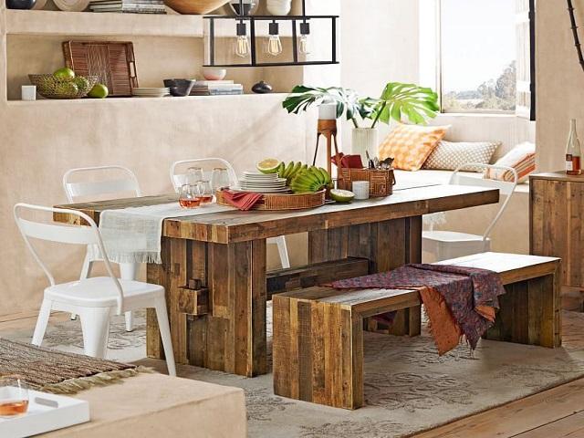 Desain Ruang Makan Kecil Boho Style Dining Room Yang