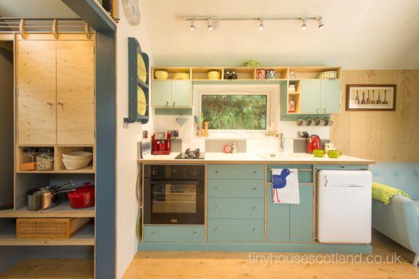 Desain rumah kecil yang fungsional; desain pantry