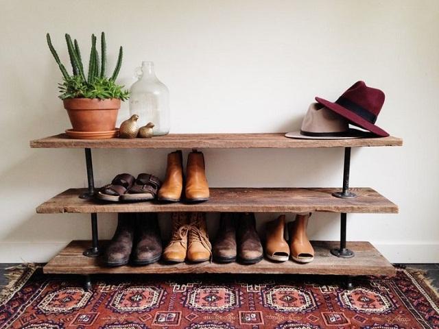 Desain Rak Sepatu Unik Kreasi Tempat Penyimpanan Sepatu