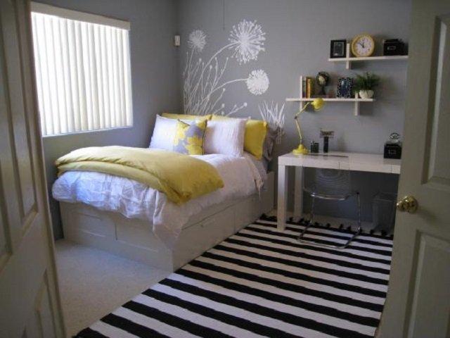 dekorasi interior warna abu-abu