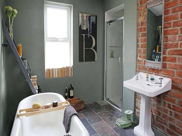 desain kamar mandi industrial