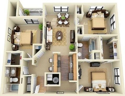 dekorasi interior apartemen untuk anak kuliah dan karyawan