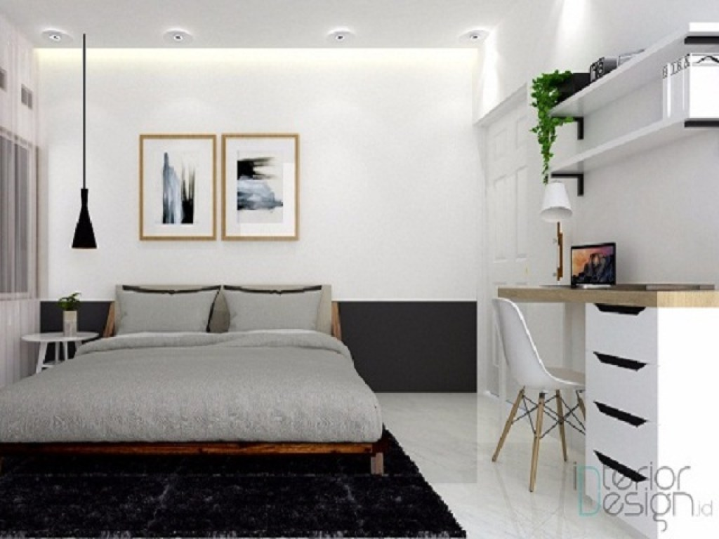 desain kamar tidur jepang modern; tampilan minimalis natural untuk