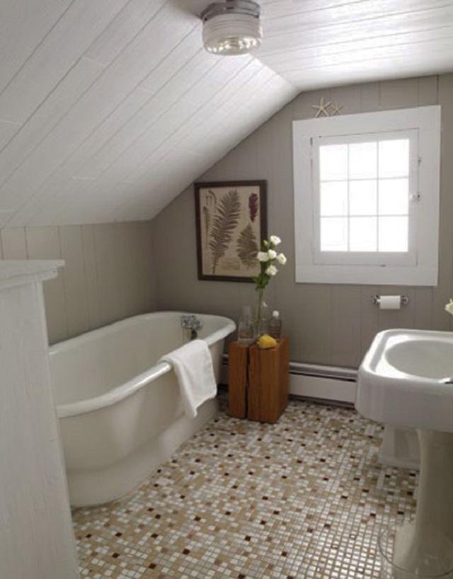 desain kamar mandi bawah tangga
