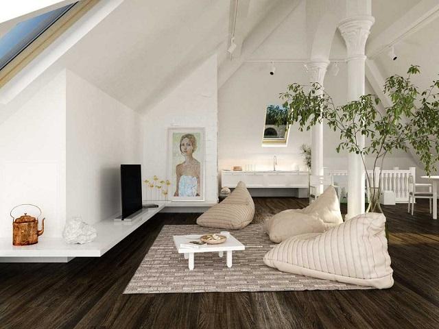 desain ruang tamu tanpa kursi4