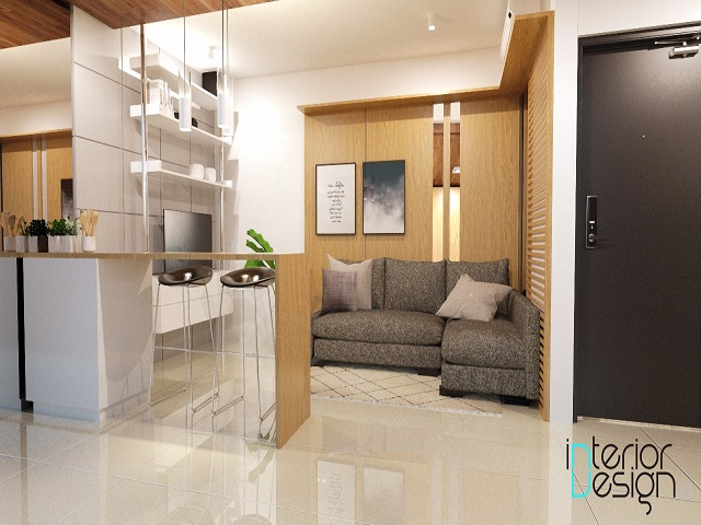 desain apartemen 46 m2