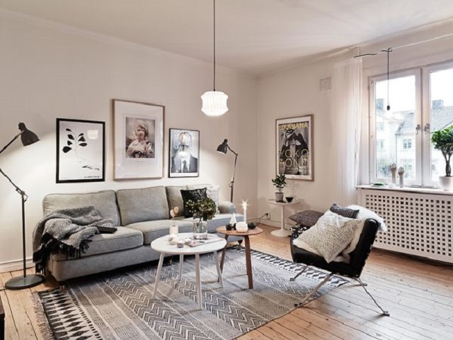 desain interior ruang keluarga skandinavia