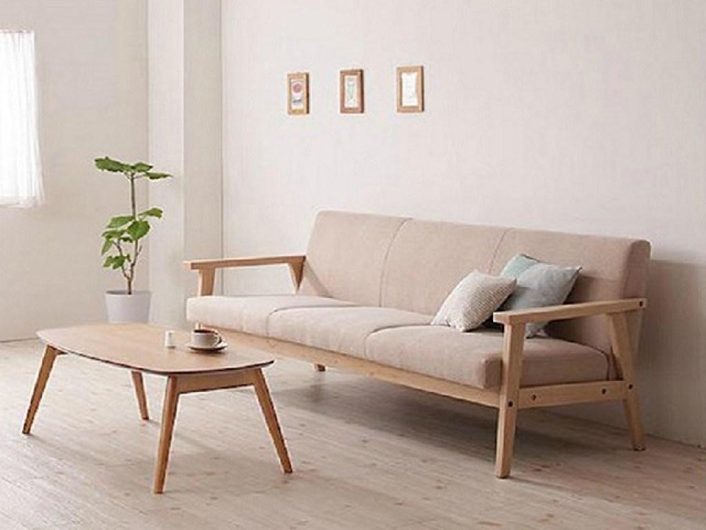 Desain Sofa Kayu Kemewahan Sederhana Di Ruang Tamu Dan Ruang