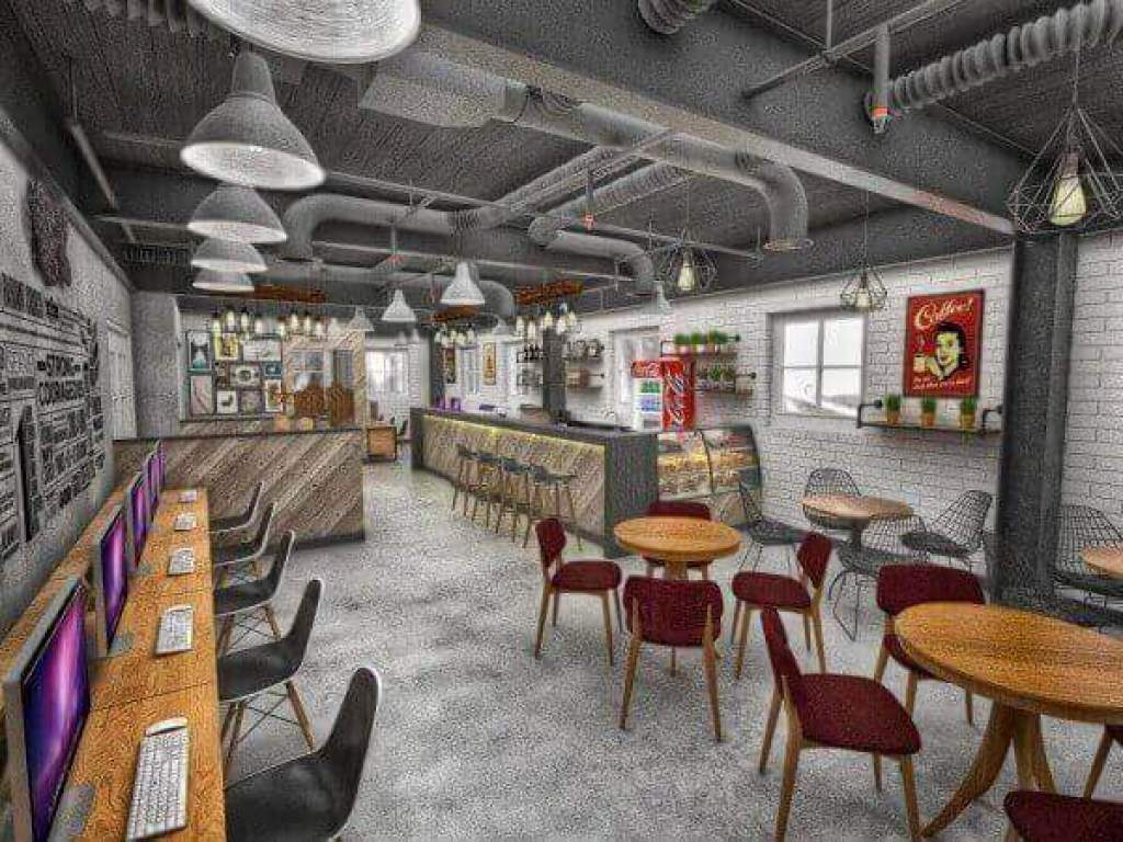 desain cafe internet