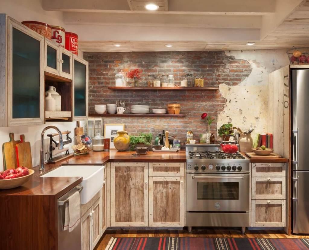 Interior dapur gaya rustic dan boho