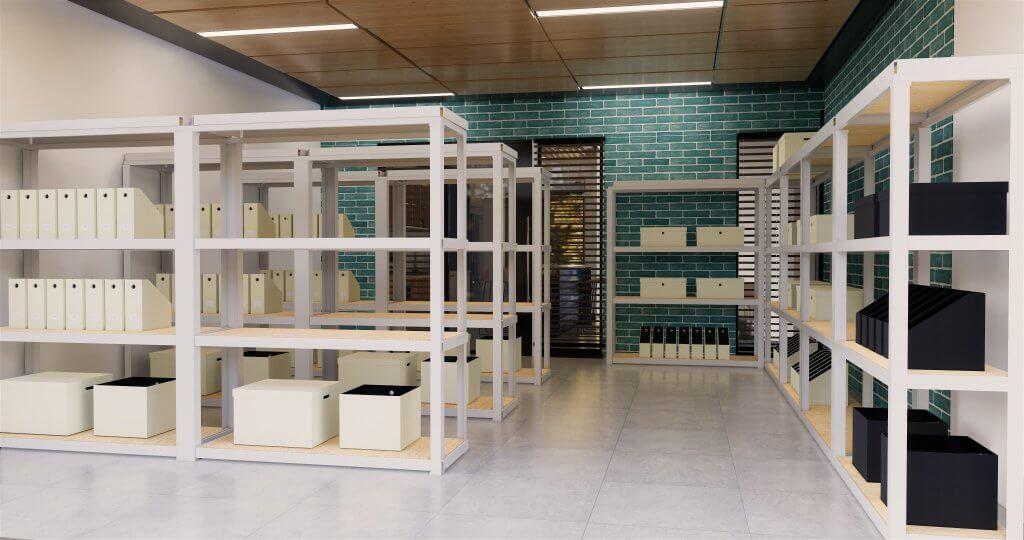 desain gudang di kantor medicare center