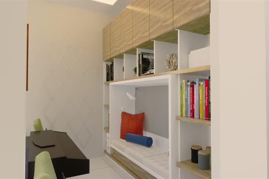 Interior ruang baca modern