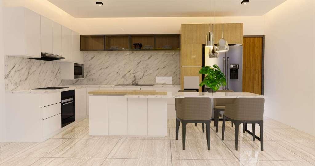Desain ruang makan konsep modern natural