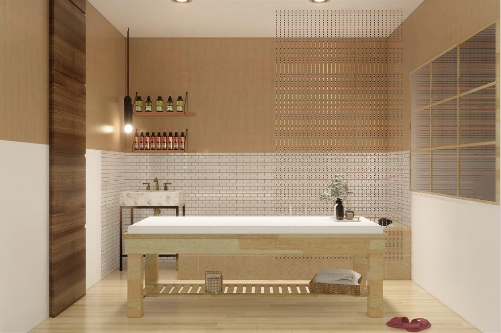 desain interior mom and baby spa, Lampung