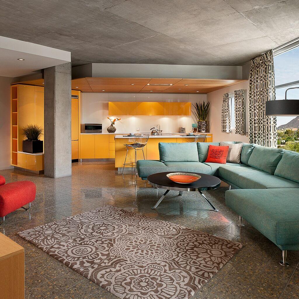 interior hotel mid-century modern