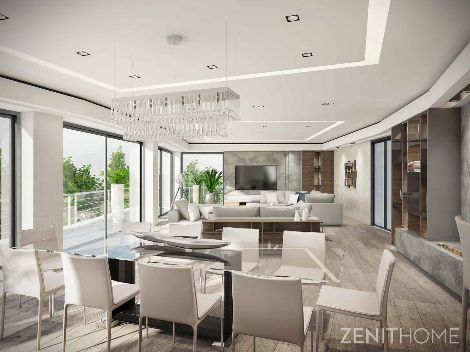 Modern elegance in a four-storey villa - Interior Designio