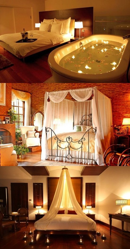Modern and romantic bedrooms for new couples - Interior design