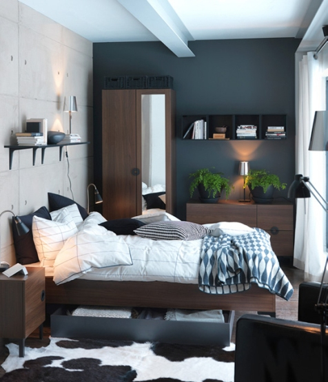 small space bedroom interior