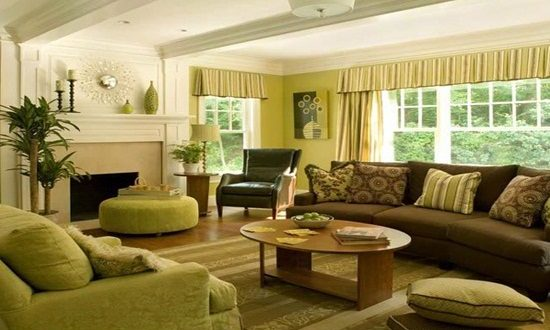 what color should you paint your living room with brown furniture side tables for rooms green and decor - interior design