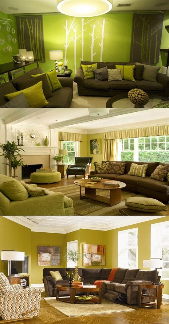 what color should you paint your living room with brown furniture small space rooms green and decor - interior design