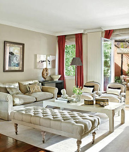 How to Decorate a Living Room with White Walls