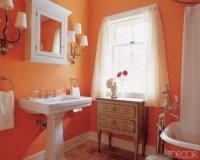 Orange Bathroom Decorating Ideas - Interior design