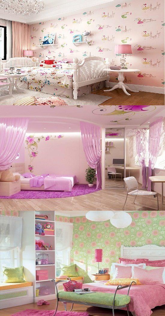 Wallpaper border for teenage girls bedroom  Interior design
