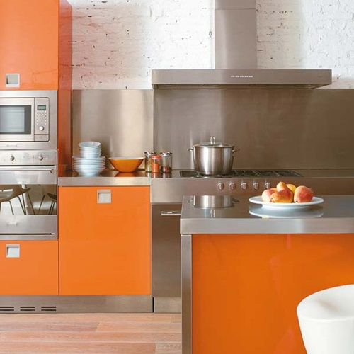 chairs for girls room ikea white leather chair vibrant orange kitchen decorating ideas - interior design