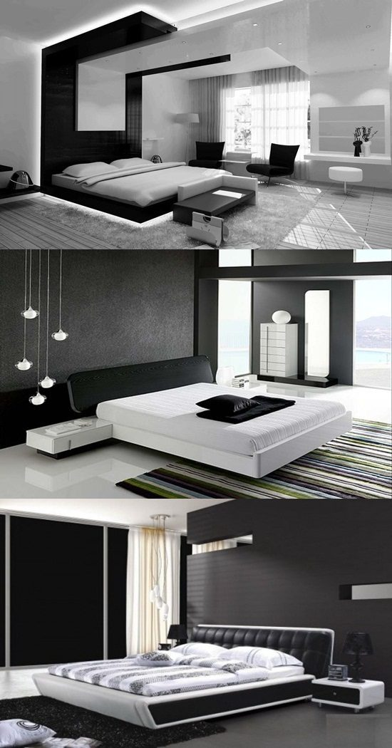 Modern Black and White Bedroom Design Ideas - Interior design