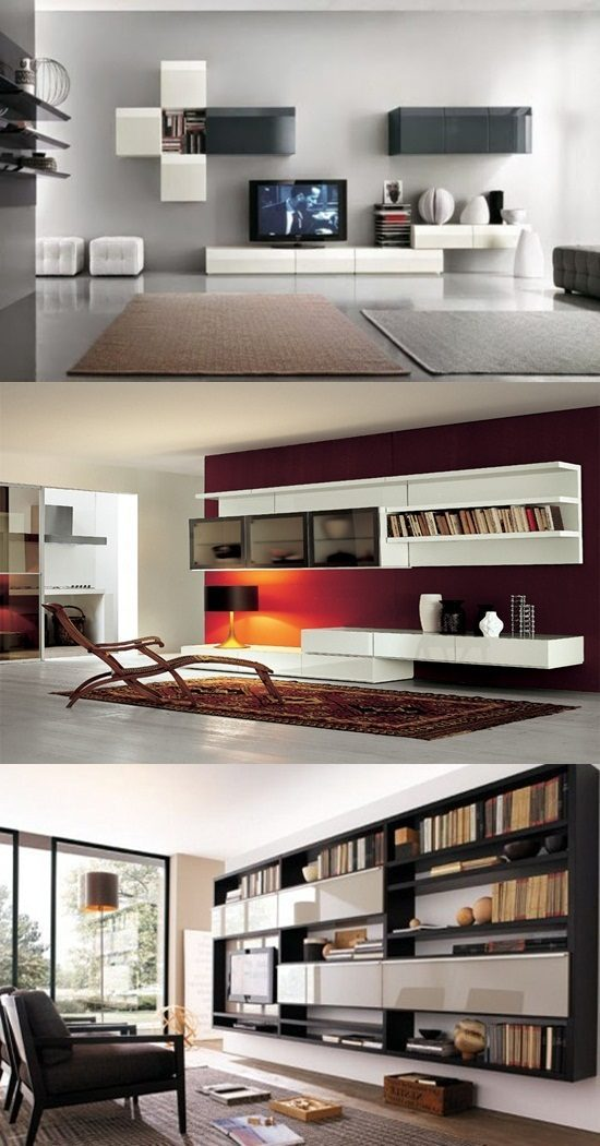 Modern Living Room Wall Units designs
