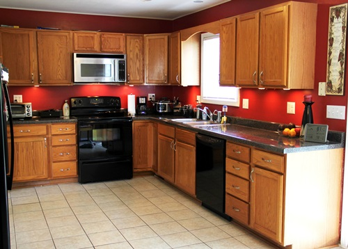 The Right Paint colors for kitchen with oak cabinets ...