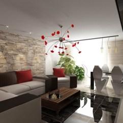 Living Room Round Table Arrange Tv Minimalist Design Ideas
