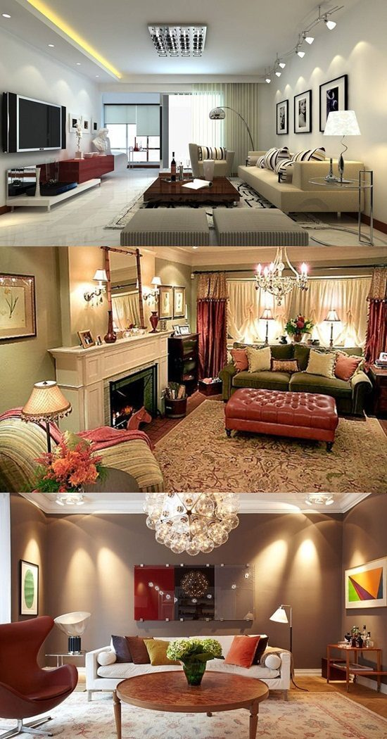 Different Kinds of Lighting Fixtures for your Living Room  Interior design