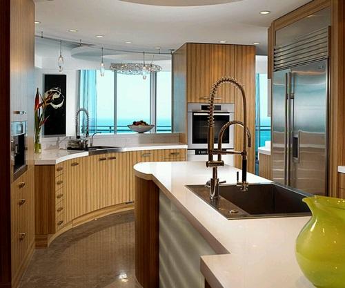 Modern Wooden Kitchen Designs: Modern Wooden Kitchen With Luxury Finishes