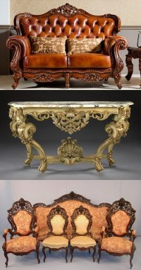 English Baroque and Rococo Furniture Antiques - Interior ...