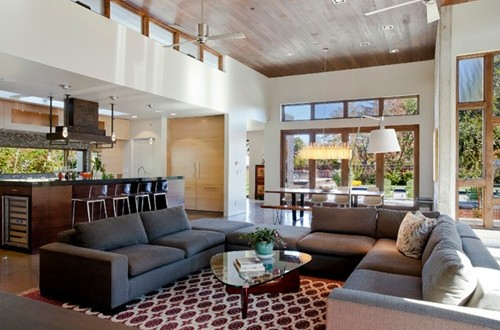 Open Kitchen to Living Room Designs - Interior design