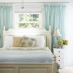 bedroom curtain cottage via