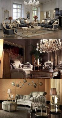 French Baroque Living Room Designs - Interior design