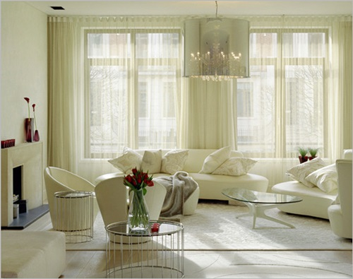 Yellow Window Treatments And Grey